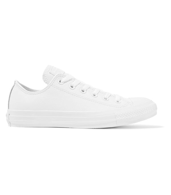 How to Wear Converse: Converse Chuck Taylor All Star Leather Sneakers