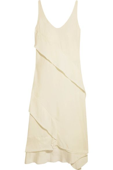 Crepe De Chine Midi Dress