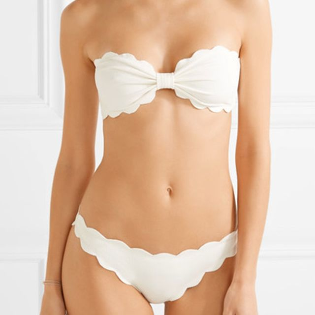 Marysia Antibes Scalloped Bandeau Bikini Top