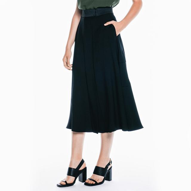 Veronika Maine Washed Twill Circle Skirt