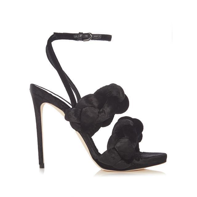 Marco De Vincenzo Velvet High Heel Sandals