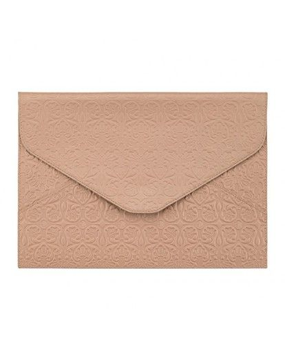 "Samantha Wills Leather Envelope 13"" Nude"
