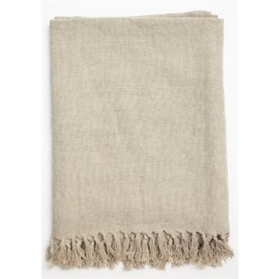 No Chintz Linen Throw Flax