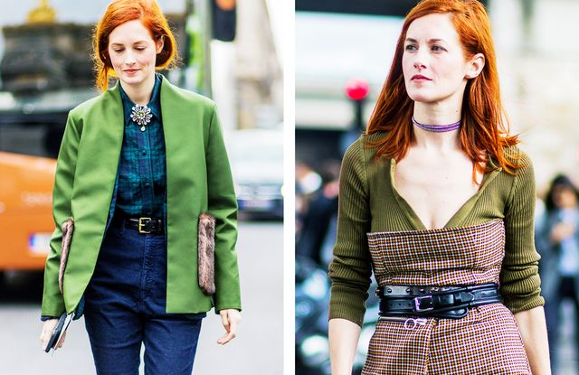 Red hair colour: green