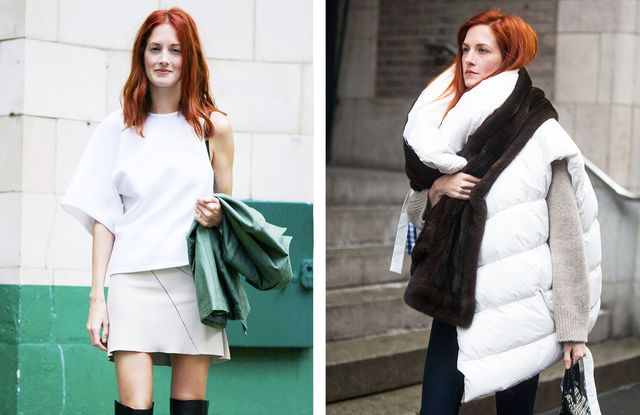 Red hair colour: white and neutrals