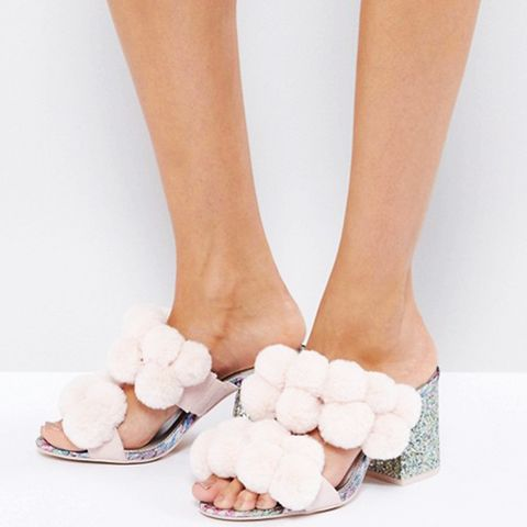 Hot Topic Pom Pom Heeled Sandals