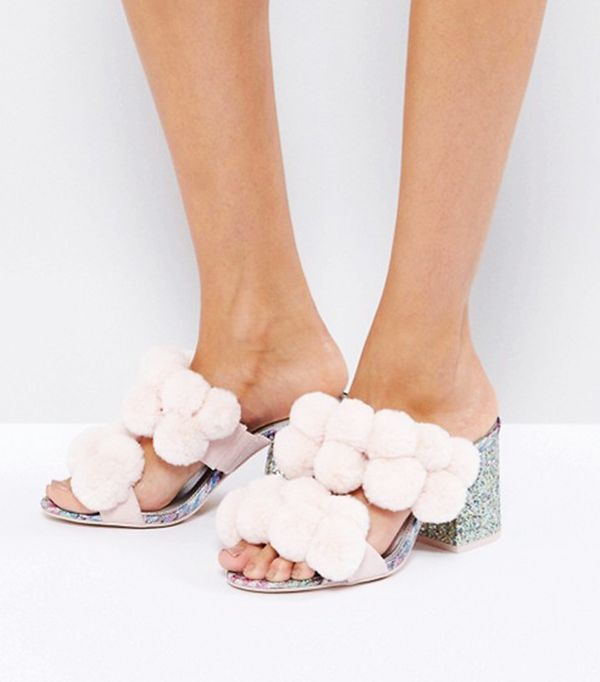 Pom Pom Heels: ASOS Hot Topic Pom Pom Heeled Sandals