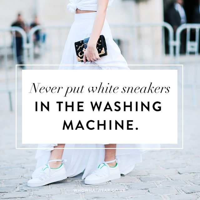How to clean white sneakers: never put white sneakers in the washing machine