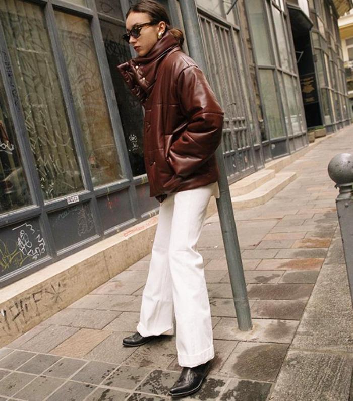 Minimalist Outfit Ideas: Beatrice Gutu Wears Nanushka Puffa Jacket
