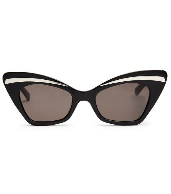 Gigi Hadid Sunglasses: Karen Walker Eyewear Babou Shrunken Cat-Eye Sunglasses