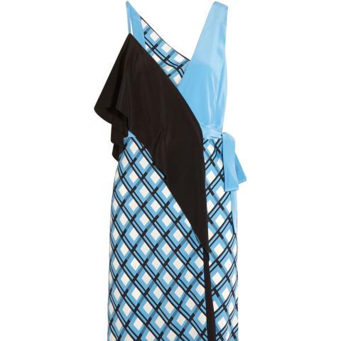 Draped Printed Wrap-Dress
