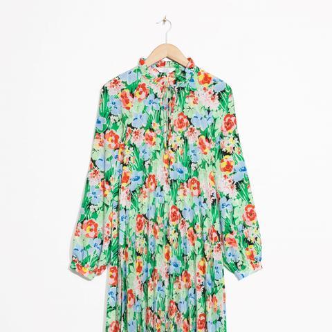 Printed High Neck Dress