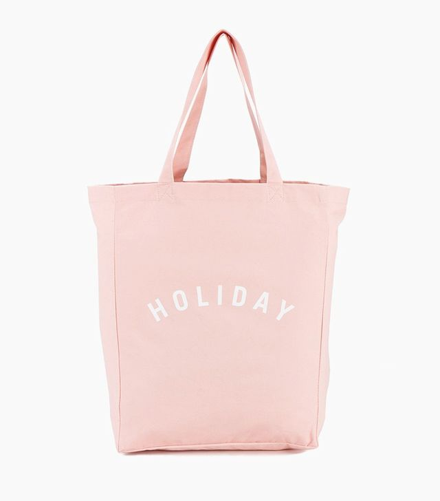 What not to wear at the airport: Holiday Canvas Logo Tote