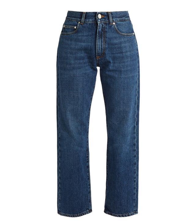 Alexachung High-Rise Boyfriend Cropped Jeans