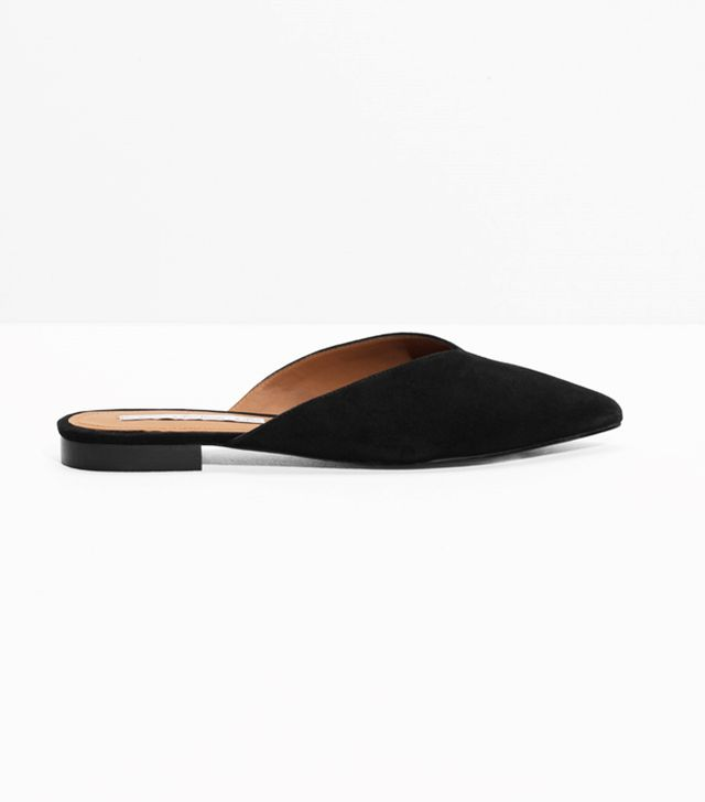 & Other Stories Suede Pointy Slippers