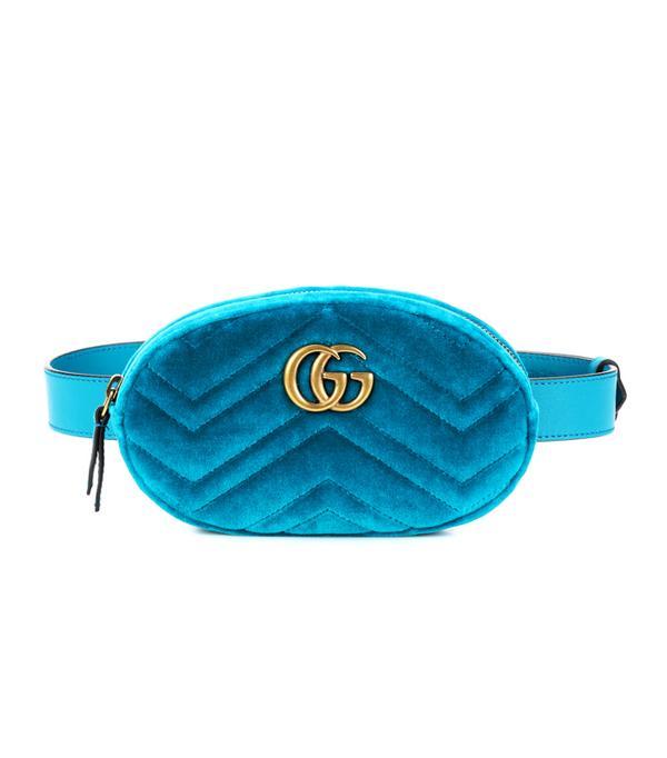 How to wear velvet: Gucci Marmont Velvet Belt Bag