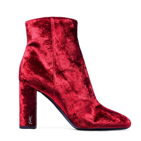 Loulou Velvet Ankle Boots