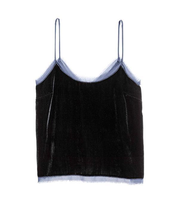 How to wear velvet: H&M Velvet Top