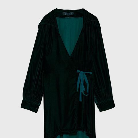 Velvet Dress With Hood