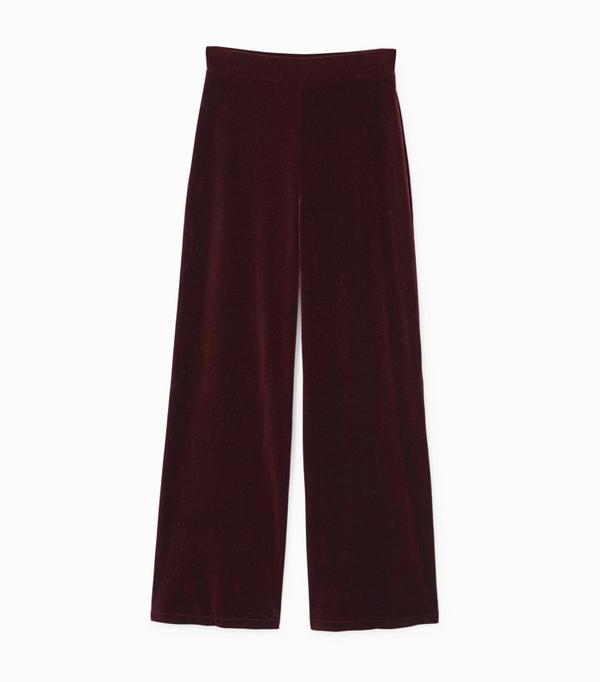 How to wear velvet: Mango Velvet Palazzo Trousers