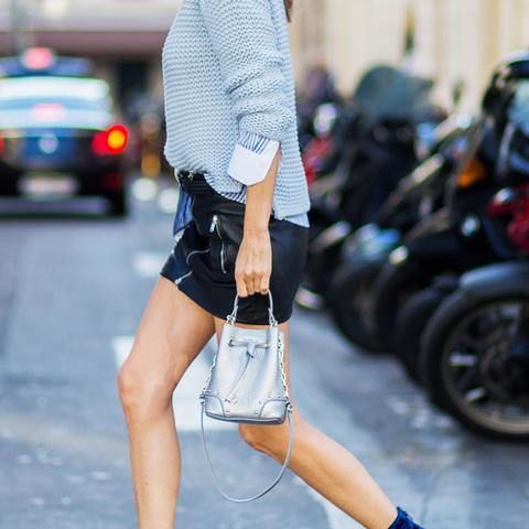 How to wear velvet: blue boots