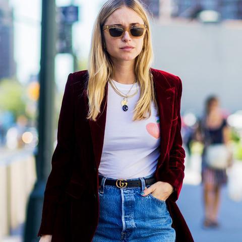 How to wear velvet:  Pernille Teisbaek