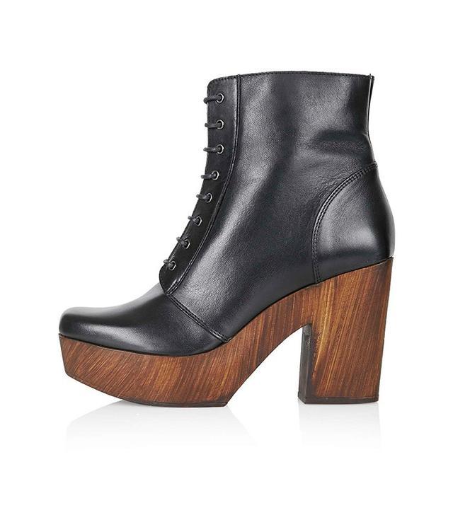Topshop Hop Leather Clogs