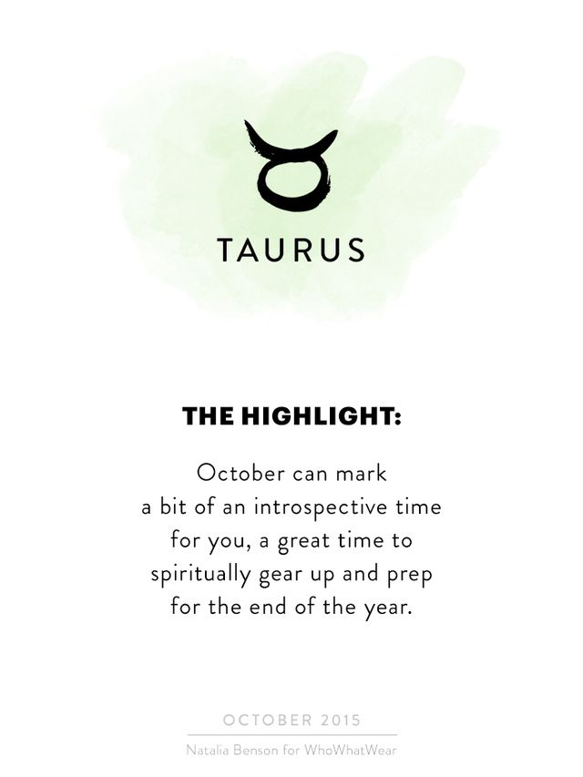 Hi, Taurus! October can mark a bit of an introspective time for you, a great time to spiritually gear up and prep for the end of the year. I know life is busy and it can be tough to slow down, but...