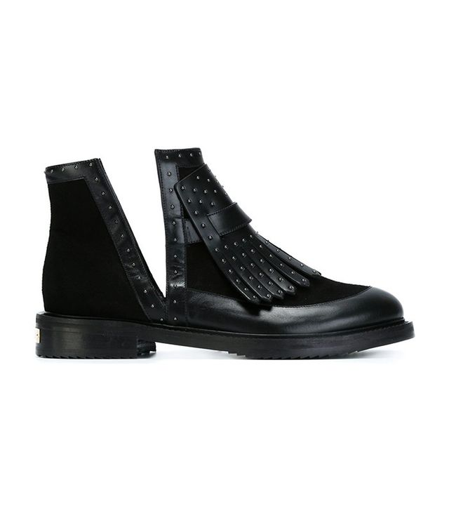 Aperlai Leather Ankle Boots