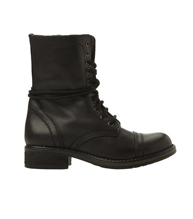 Steve Madden Trooper Black Boots