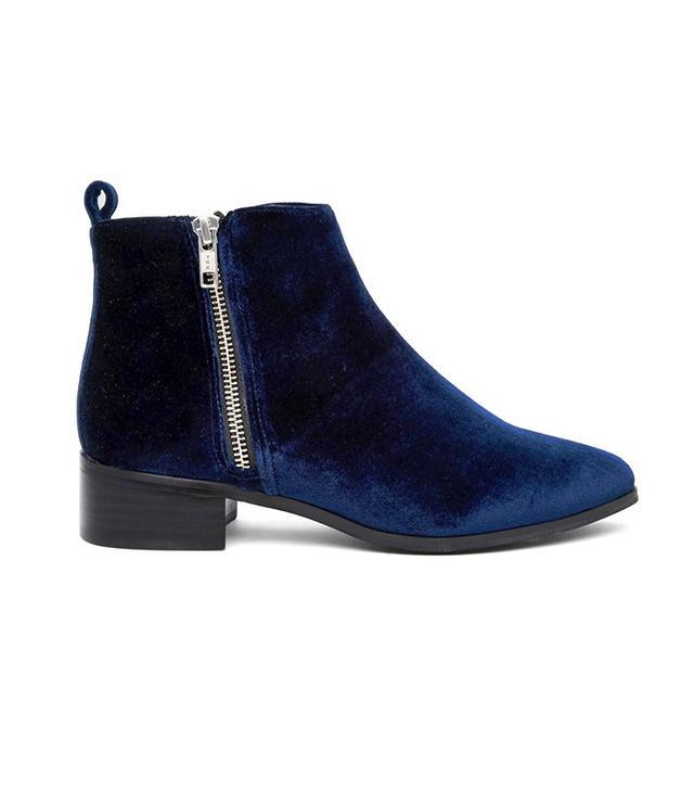 ASOS Velvet Ankle Boots