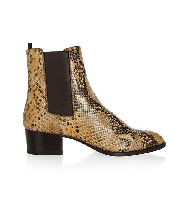 Saint Laurent Blake Python-Effect Boots