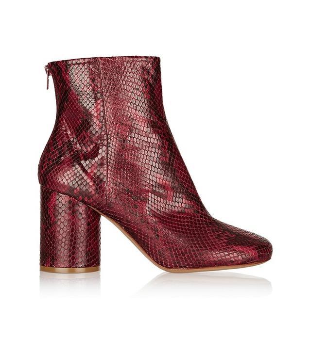 Maison Margiela Snake-Effect Boots
