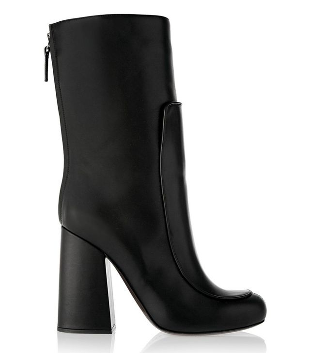 Victoria Beckham Black Leather Ankle Boots