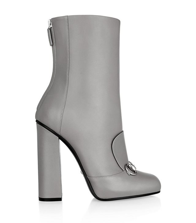 Gucci Horsebit-Detail Leather Ankle Boots