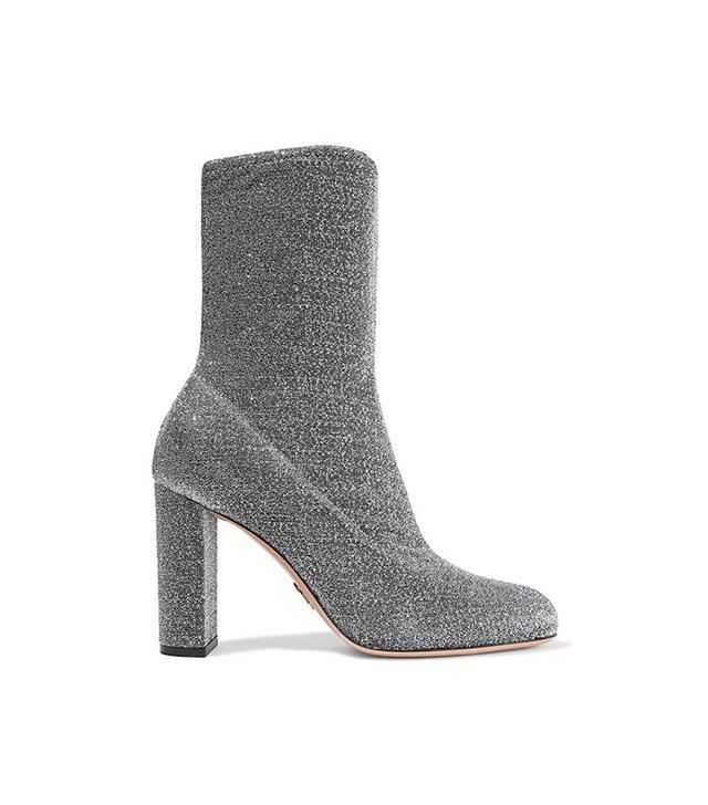 Oscar Tiye Giorgia Textured-Lamé Boots