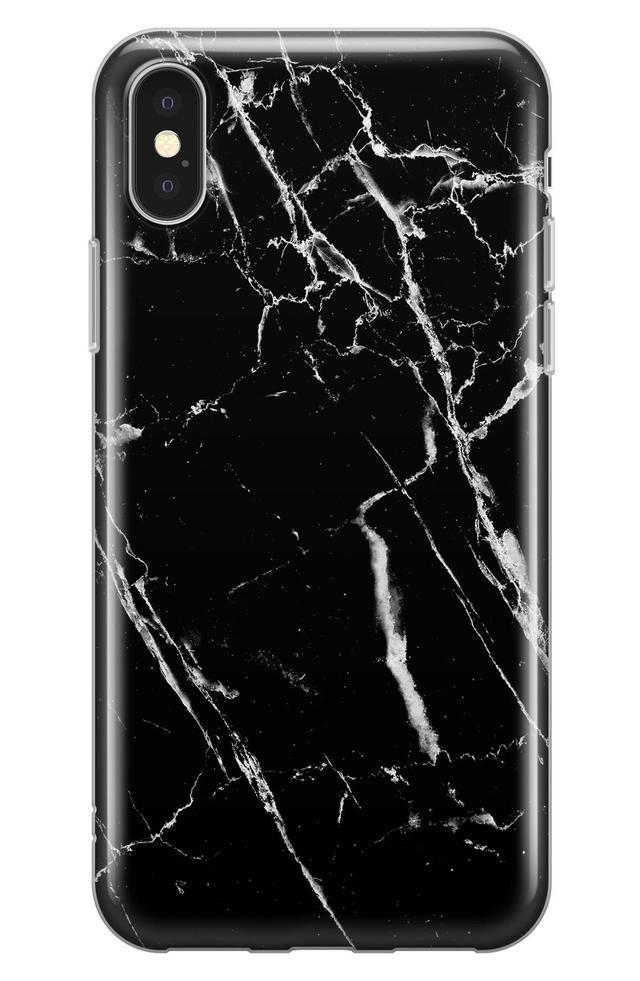 Marble Iphone X Case - Black