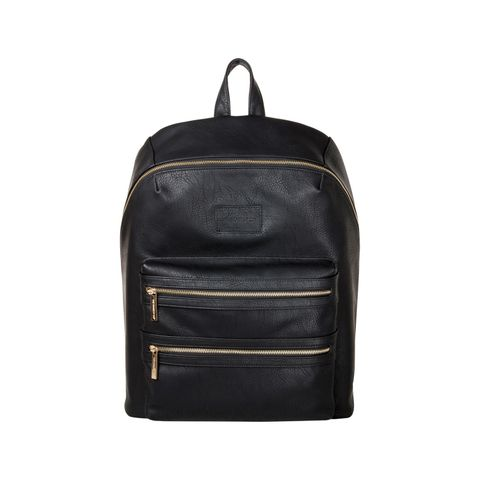 City Faux Leather Diaper Backpack
