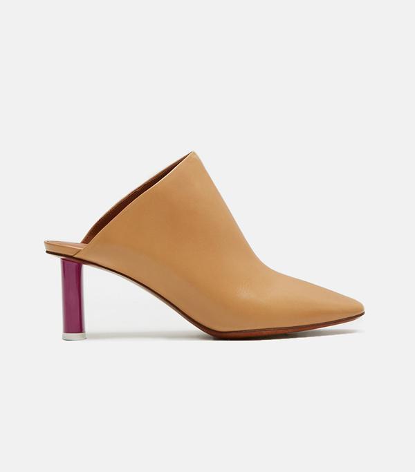 Slip On Leather Mule Camel Size: EU 39