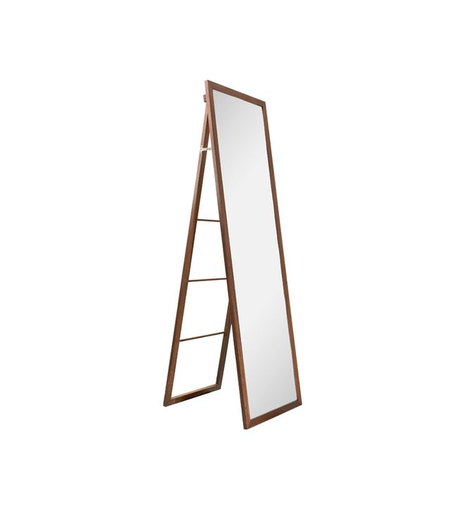 Target Wood Ladder Standing Floor Mirror
