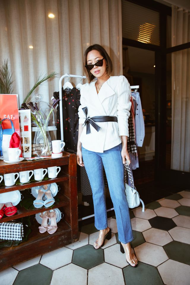 What looks amazing on you: Fitted jackets with a nipped-in waist and a flared bottom. Why: The defined waist and flare over your hips create the illusion of lower-body curves and will help balance...