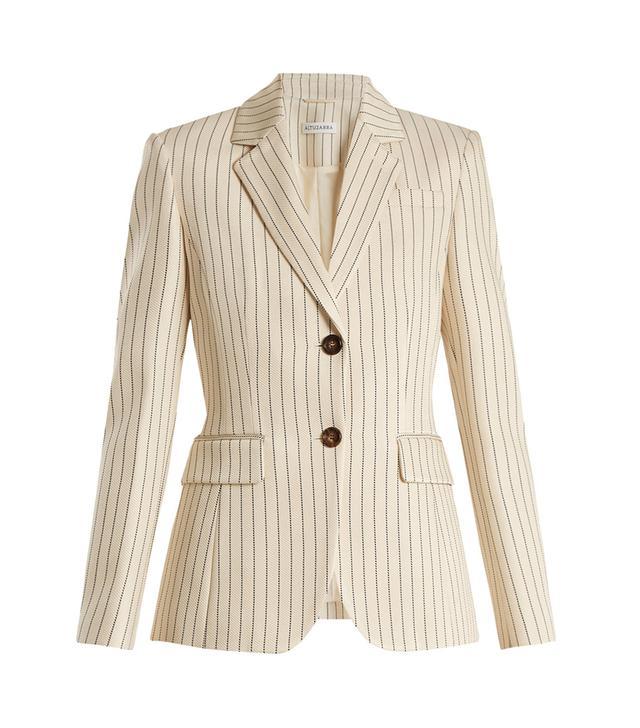 Fenice single-breasted pinstriped blazer