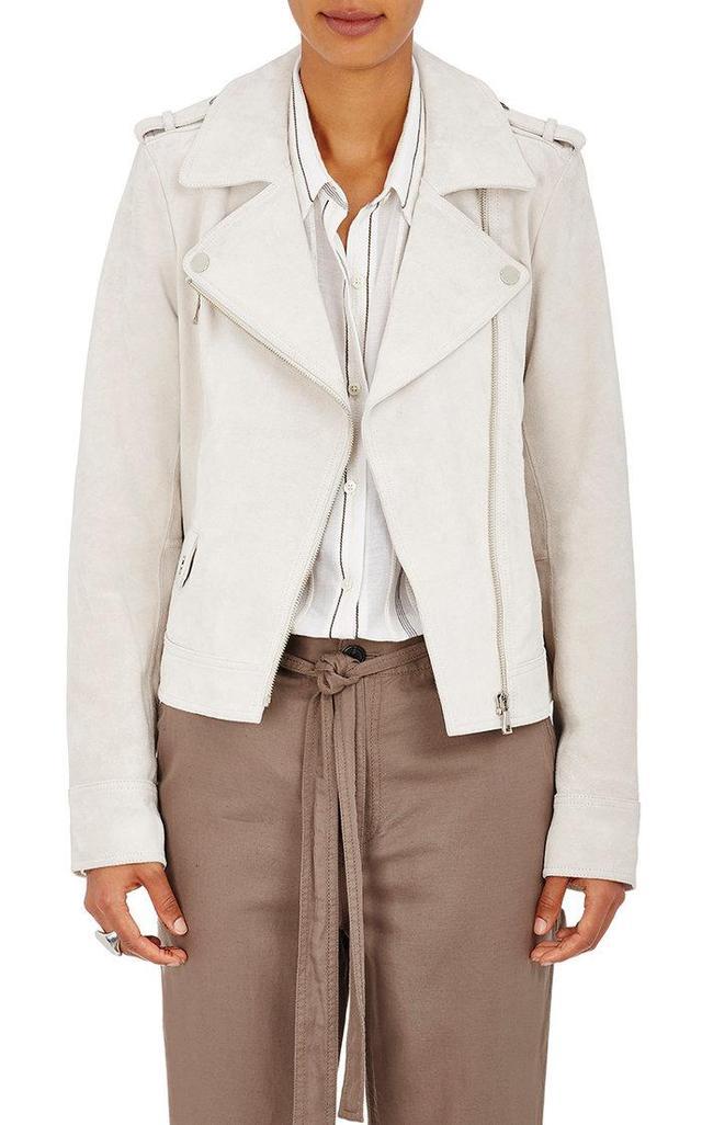 Robert Rodriguez Women's Suede Moto Jacket