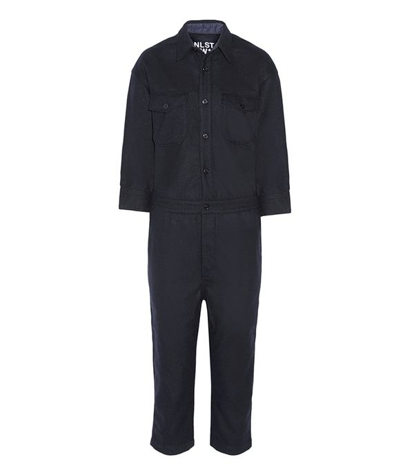 - Wool-blend Jumpsuit - Navy