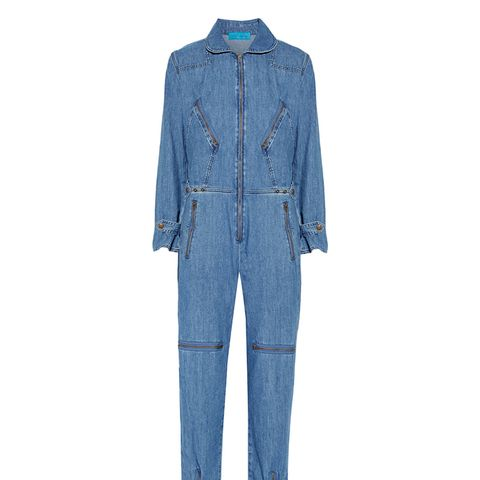 - Chambray Jumpsuit - Mid denim