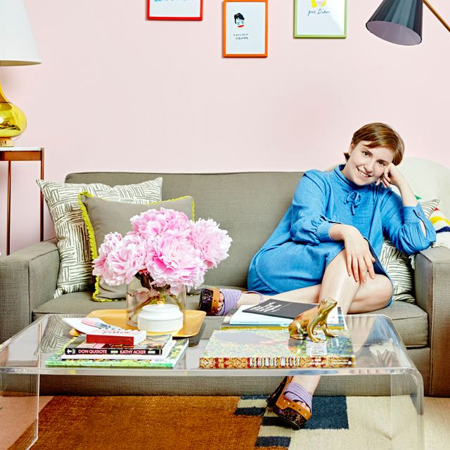 Exclusive: Tour Lena Dunham's Vibrant Girls Dressing Room