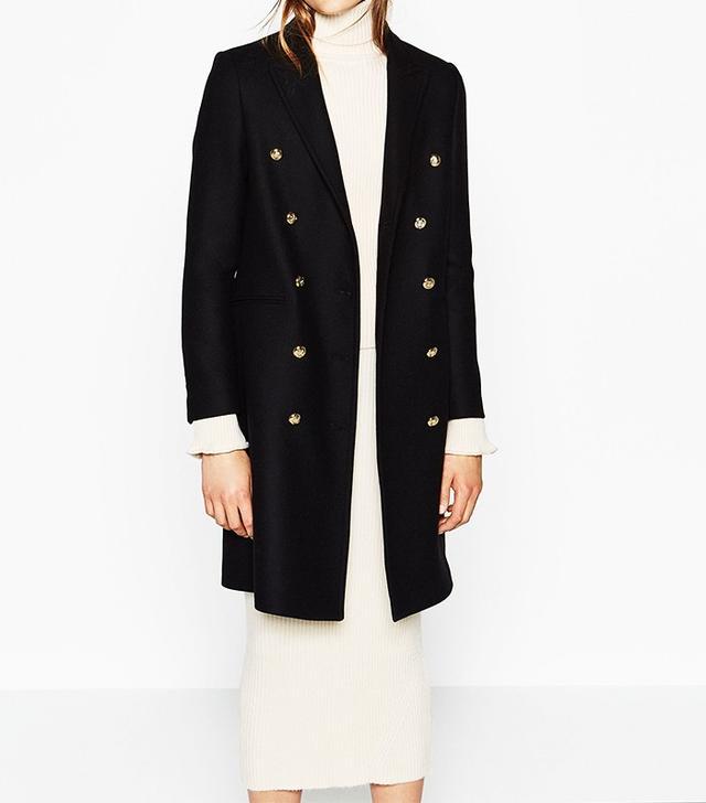Zara Long Crossover Coat