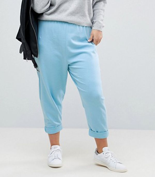 Asos Curve 80s Jogger With Roller Hem