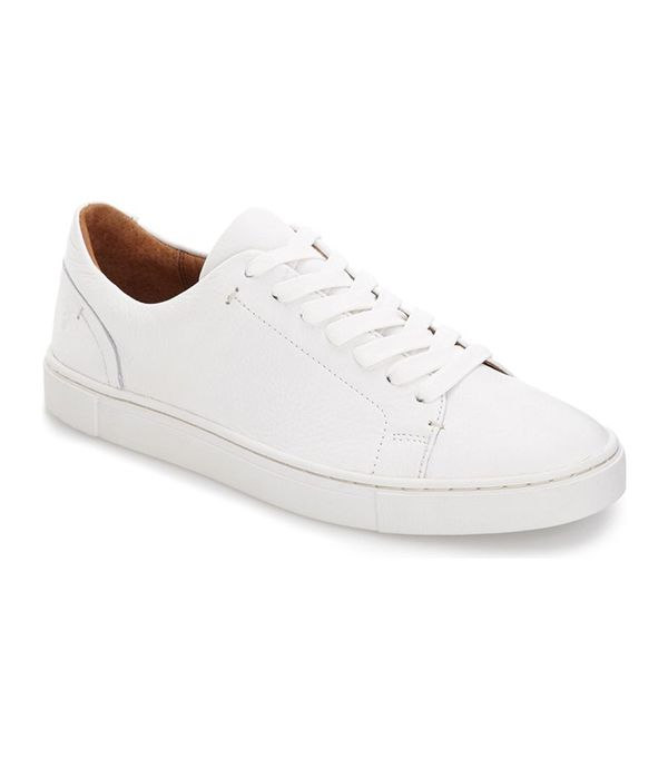 best white sneakers- frye ivy sneakers