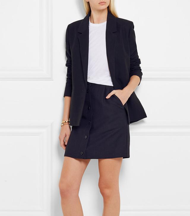 A.P.C. Atelier De Production Et De Création Monica Linen And Cotton-Blend Mini Skirt